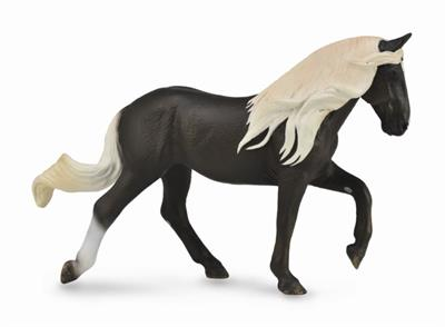 Gaited brown horse toy figurine