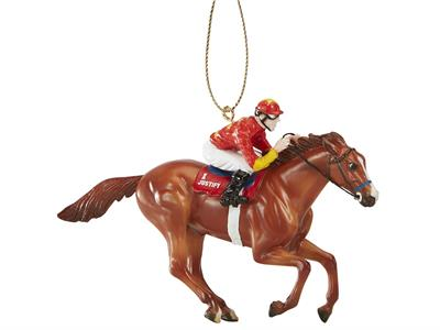 random ship holiday ornament - you will receive either white WinStar jockey silks or red China Horse Club jockey silks, as Justify raced in both colors! Brand New In Unopened box. 2018 Holiday Edition Model.  The number thirteen has a reputation for being