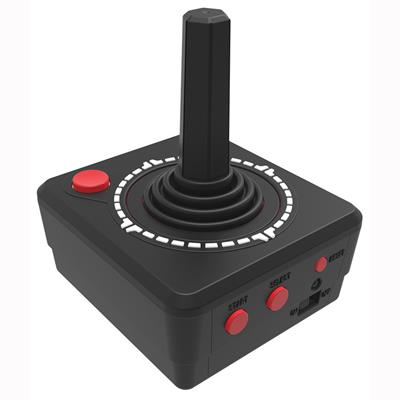 ased on the iconic Atari 2600 gaming console, the Atari Classic Games Joystick plugs directly into your TV and offers ten different classic Atari games including Asteroids, Breakout, Centipede, Missile Command and more!