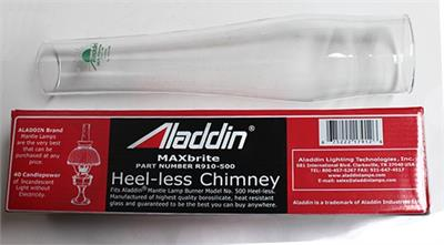 Aladdin Lamps MaxBrite 500 Heel-less Chimney #R910-500 Clear Glass Lamp