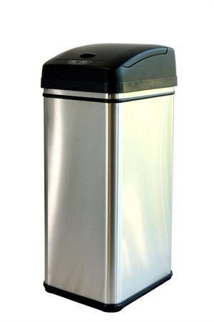 Nine Stars DZT-12-13 Deodorizer Touch-Free Sensor 13-Gallon Automatic Stainless-Steel Trash Can