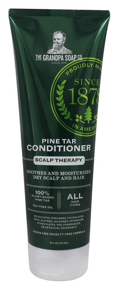 The moisturizing power of 100% Plant-based Pine Tar & Coconut Oil works with the natural properties of Tea Tree Oil to soothe and gently condition, leaving scalp healthy and hair manageable. Safe for color-treated hair. Gentle enough for daily use.