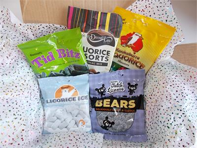 A tasty assortment of our best selling licorice from around the world. Darrell Lea Liquorice Allsorts, Gustaf 's Tid Bitz, Licorice Ice, Licorice Bears, and Kookaburra Liquorice Shooters.