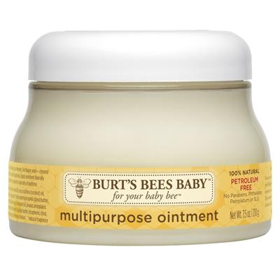 Soothe your little one's delicate diaper area while forming a barrier against dryness and irritation with this all-natural, all-purpose ointment from Burt's Bees Baby. 7.5 ounce tub. 100% Natural Ingredients.  Moisturizes baby's skin from dry lips to deli