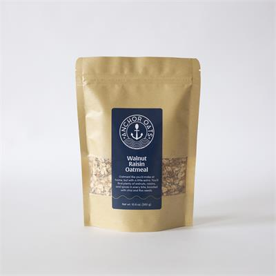 This oatmeal features the traditional flavors and ingredients like cinnamon, nutmeg, walnuts, and raisins. It takes things one step further by including chia and flax seeds for healthy omega-3 fatty acids, fiber, antioxidants, iron, and calcium.