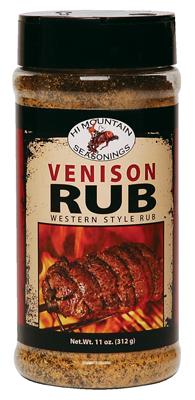 Hi Mountain Jerky Venison Rub 10 ounce Seasoning for Game, Elk, Deer, Moose