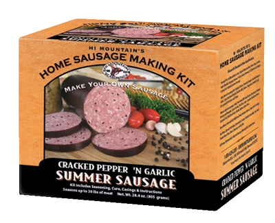 Make Homemade Sausage with Hi Mountain Jerky Cracked Pepper and Garlic Sausage Kit