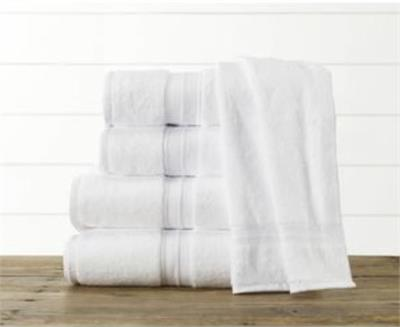 Sweet South line of bath linens from 1888 Mills are made from American Grown Cotton, which is also woven and sewn in the USA. High Quality construction. Dries fast, strongly woven, and very little shrinkage. This oversized, plain white cotton bath towel m