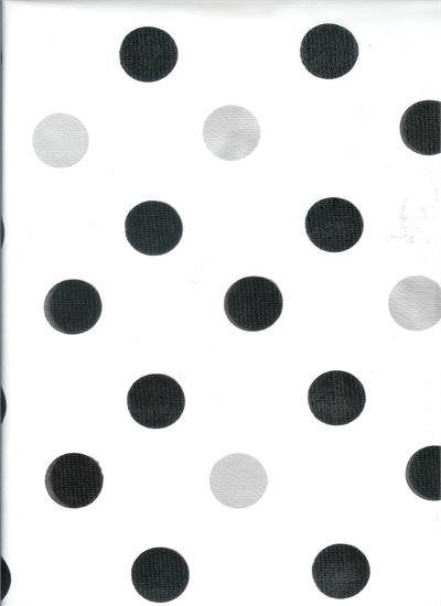 Tokyo Dots Black and Gray on White OilCloth Yardage