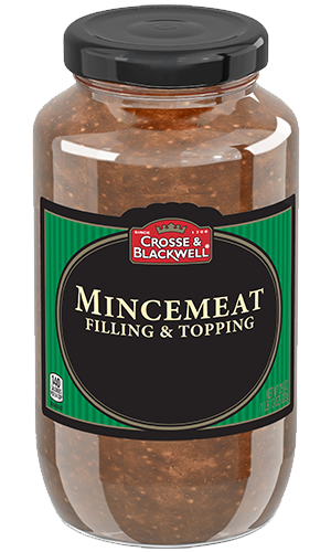 A centuries-old British specialty, Crosse & Blackwell Mincemeat is a rich, aromatic, ready-to-use fruit filling traditionally used in pies and desserts. The classic version is made with raisins, spices and Pippin apples, a tart English heirloom apple with