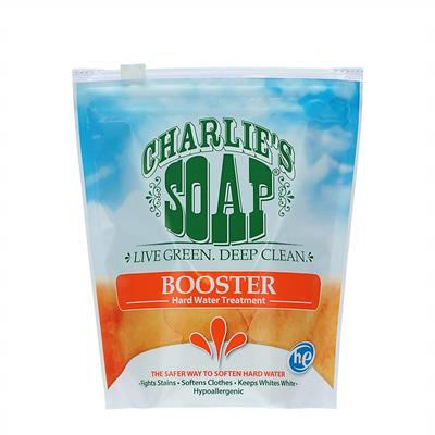 Some wander this Earth seeking wisdom. A lot of folks Charlie talks with are looking to beat hard water. Our Booster is a hard-water treatment made from a non-toxic biodegradable phosphate that brings out the best of Charlie's Soap without leaving any res