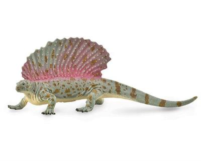 The Edaphosaurus was an herbivorous dinosaur from the Carboniferous period. The name means pavement lizard. It had a small head and a huge back sail with cross-bars that may have supported more fat and flesh than that of dimetrodon. It has been suggested