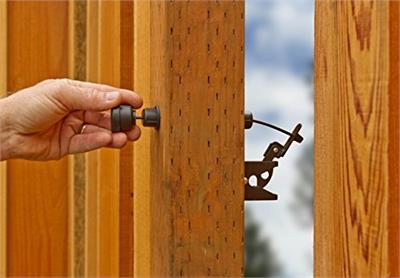 Strings wear out and break quickly and reaching over the gate can be difficult and annoying for customers. GH Gate Latch Pull solves these problems, while looking great.
