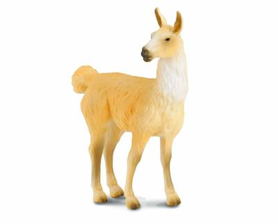 Breyer Horses Corral Pals Llama #88301 by CollectA Figurine Measures 2.8''L x 3.5''H Ages 3+ | 1:18 Scale  The llama is a domesticated South American camelid. A full-grown llama can reach a height of 5 ft 7 in to 5 ft 11 in at the top of the head, and can