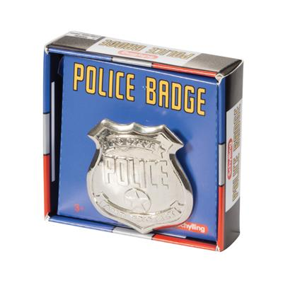Schylling Toys Police Man Badge #PDB  Serve and Protect with our retro toy police badge. Bad Boys aren't going to know what to do! Ages 3+ 2in x 2in. Shiny Metal Badge. Brand New In Box. Schylling's Police Man Badge is create for creative pretend play, dr