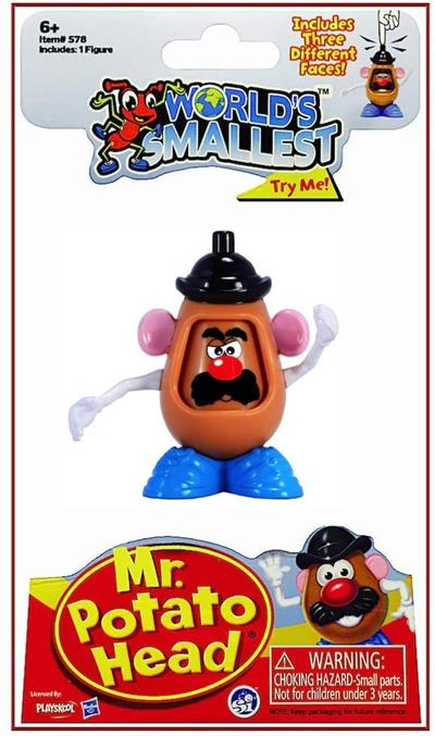 "World's Smallest Mr. Potato Head # 578  From his hilarious role in Toy Story to Hasbro's ""SpokesSpud"" to the very first TV advertised toy, Mr. Potato Head is an icon in toys and pop culture. Super Impulse is proud to introduce this superstar tater to its"