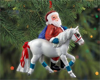 Breyer Horses 2019 Pony for Christmas Ornament with Santa Claus #700652 Holiday/Christmas Brand New Ornament! Brand New Item, Ships in original, un-opened package.  This sweet ornament is the embodiment of every horse-loving child's Christmas wish! Santa