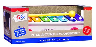 Since its introduction in 1957, Pull-A-Tune Xylophone has made music and delighted children all over the world. With eight rainbow colored bars and a mallet, today's Pull-A-Tune Xylophone makes beautiful melodies for a whole new generation of children to
