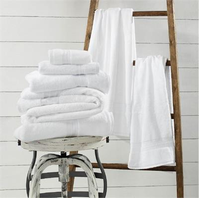 "1888 Mills Sweet South White Bath Towel, 27"" x 54"", USA Grown and Made  Sweet South line of bath linens from 1888 Mills are made from American Grown Cotton, which is also woven and sewn in the USA. High Quality construction. Dries fast, strongly woven, an"