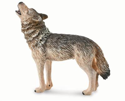 CollectA's Howling Timber Wolf #88844 measures approximately 5.5 x 3.1 x 3.9 inches. Ages 3+ | 1:18 Scale The Timber Wolf (consisting of the eastern wolf and the northwestern wolf) is a subspecies of gray wolf. The subspecies is the product of ancient gen