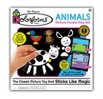 Build colorful animal themed scenes and puzzles, mix and match over 180 Colorforms pieces to create endless creatures, then re-stick the shapes to imagine your own stories over and over again!