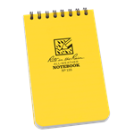 "3"" x 5"" Top-Spiral Notebook is small enough to fit comfortably in your pocket and tough enough to survive any of Mother Nature's onslaughts. This scrappy pocket notebook will survive sweat, rain, mud, snow, oil,"