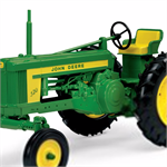 1: 16 John Deere 520 tractor to your collection! the John Deere 520 tractor features front tie rod style steering. With the authentic John Deere markings and Gasoline engine detail, this tractor is perfect for any collector! the wheels are made of enginee