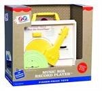 Fisher Price Classics Record Player #1697  The Fisher Price Change-A-Record Music Box, more commonly known as the Fisher Price Record Player, is a favorite among those who played with it as a child. Originally introduced in 1971, this endearing classic is