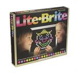 Just like the original but updated for the new generation of art lovers, Lite Brite delivers the popular & magical art of light with templates and round pegs that shine bright with light! The white screen, all round pegs and 2 art templates included will