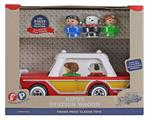 Introduced in 1960, this was the 1st Fisher Price playset to include the Play Family! This iconic vehicle represents an important piece of history where the station wagon was a big part of every family's memories. The Nifty Station Wagon comes with 3 Play