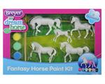 Paint your own mini model horse in fun and mystical, pretend paint colors.