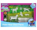 Play size barnyard animals to paint