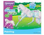 Painting is beloved by Breyer fans of all ages, and now there's a unicorn they'll want to add to their herd! Kit includes everything needed to paint a colorful unicorn. Includes: 1 unicorn, 1 paintbrush, 6 paint pots, and instruction sheet.