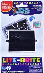 World's Smallest Lite Brite #545   Create tiny pictures with World's Smallest Lite Brite. Hasbro licensed, this is the smallest Lite Brite you have EVER seen. Includes a light box and colorful pegs that make beautiful images light up. Features 200 assorte