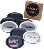 Blackboard Disc Lids* - Includes 8 Reusable Chalk Tops for Mason Jars