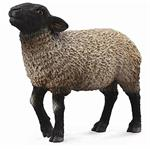 This beautiful black-faced Suffolk Sheep from CollectA is ready to join your child's make-believe farm. The sheep's curly white grey fleece and shiny hooves are so realistic and lifelike, you can almost hear the sheep bleating. The 3.7''L x 2.6''H Suffolk