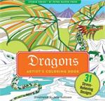 Adult level coloring book with fantasy, magic, and dragons to color.