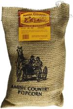 Amish Country Popcorn Baby Yellow Popcorn Burlap Bag 2 lb.