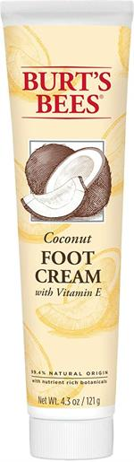 Burt's Bees Coconut Oil Foot Cream with Vitamin E 4.3 Oz  Pamper and sooth even the driest, most neglected feet with Burt's Bees Coconut Foot Cream. This cream helps prevent and protect dry, cracked and rough skin with deeply penetrating emollient botanic