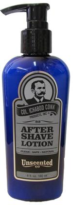 Colonel Conk Unscented All Natural After Shave Lotion 6 ounce #1334