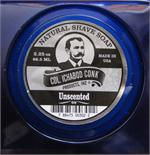All natural shaving soap with no added scents or fragrances. Made by Colonel Conk