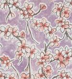 Oil Cloth Fuji on Lilac Purple Full Bolt of 12 Yards Cherry Blossom Fabric