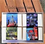 Washington Soap Company 4 Piece Goat's Milk Bar Soap Gift Set 4 Bar Gift Set - Assorted Fragrances, Please allow us to choose. All Natural Goat's Milk Bar- made with a combination of Glycerin & Goat's Milk! Using soap made with goat's milk is not only ver