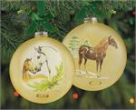 Breyer Horses 2019 Artist Signature Glass Ornament Series Spanish PRE #700823 Holiday/Christmas Two Sided Glass Ornament, Kathleen Moody, Artist Brand New in original, un-opened box  The Spanish Pura Raza Espanola (or PRE) horses are best known for their
