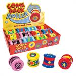 Sure to amuse the little ones, the Come Back Roller is tons of fun! Gently roll them away and watch as they roll right back! Measures 3 x 2.75 x 2.75 Ages 18 months and older.