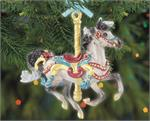 Breyer Horses Flourish Carousel Ornament #700624 - 2020 Holiday Series Brand New In Original, Un-Opened Box  Inspired by the platform carousels that have been a staple of fairs and boardwalks since the 19th century, Breyer's 2020 Flourish ornament is bede