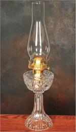 clear glass non electric flat wick oil lamp for decoration or power outages