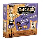 Schylling Toys The Magic Rabbit Jumbo Box of Magic Tricks #RMMS  The Jumbo Set of 75 Tricks includes wonderful classic illusions like the Mystical Cups and Pom-poms, the Magic Cup and Ball, Magic Coin Tricks, and many others. A great starter kit for young