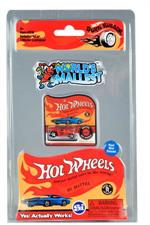 Speed away with the smallest Hot Wheels Cars EVER! These tiny, die-cast Hot Wheels are small enough to fit onto a quarter. Three assorted classic Hot Wheels styles: Bone Shaker, Twin Mill, or Roger Dodger, please let us choose.
