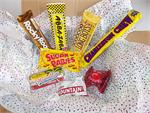A sweet little bit of nostalgia. This fun and delicious sampler pack includes one each of the following candy bars: Abba Zabba, Vanilla Charleston Chew, Neapolitan, S'mores Rocky Road, Sugar Babies, Cherry Mountain Bar, Dark Chocolate Big Cherry, and Coco
